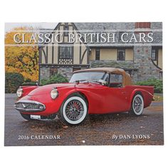 Celebrate the style and performance of British cars every day of the year with this 2016 calendar. One of the foremost automotive photographers in the country has captured the essence of classic British marques, including MG, Triumph, Austin-Healey, Jaguar, and Daimler. Hang it on your wall or give it as a gift, and admire the lasting tradition of these classic automobiles.