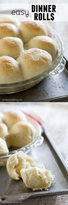 Easy Dinner Rolls - these rolls are so easy to make - they are perfect for a weeknight, but good enough for a holiday!