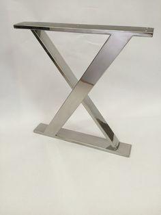 Banc de 14 pouces X cadre inox base ottoman base seat par IDAMETAL