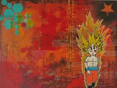 """""""DBZ"""" 60x80cm acrylic Arno, Dbz, Painting, Painting Art, Paintings, Painted Canvas, Drawings"""
