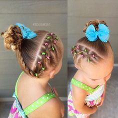 Diagonal side criss-cross ponies, a mini braid, and a high side messy bun!  #toddlerhair #toddlerhairideas #toddlerhairstyles #hairideas #toddlerstyle #easyhairstyle #littlegirlhair #toddler #hairstylesforgirls #kidhairstyles #toddlersofIG #toddlersofinstagram #braidsforlittlegirls #instabraid #childrenofinstagram #toddlerlife #ontheblog #hairofinstagram #braid #instahair #sweetheartshairdesign