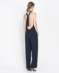 ZARA - WOMAN - BACKLESS JUMPSUIT - Adorable but what to do when you have to weewee!
