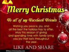 A collection of Merry Christmas wishes and New Christmas messages. You can find best christmas messages and greetings for your Christmas SMS and Christmas Cards. Christmas quotes for your card also included. Wish you a Merry Christmas Christmas Cards For Facebook, Short Christmas Greetings, Merry Christmas Wishes Quotes, Merry Christmas Wishes Messages, Merry Christmas Pictures, Merry Christmas Images, Christmas Poems, Merry Christmas And Happy New Year, Christmas Status