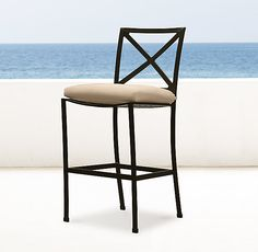 RH's Carmel Barstool:A perennial classic, Carmel is inspired by the beauty of the English garden. Handcrafted of rustproof aluminum for a long life outdoors.