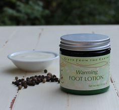 Warming Foot Lotion - Black pepper and ginger help heat cold feet. Feet bare, snuggling in front of a roaring fire. This luscious lotion warms up tired, swollen and congested feet and legs. Massage well to promote absorption. Cold Feet, Feet Care, Natural Cures, Skin Makeup, Health And Wellness, Lotion, Herbalism, The Cure, Skin Care