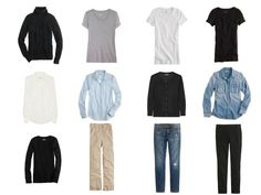 A Common Wardrobe - lots of ways to style simple basics