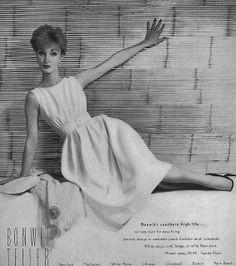 Evelyn, December Vogue 1958  Ad for Bonwit Teller Department store