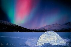 Alaska. i would love to see the northern lights here!