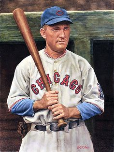 Rogers Hornsby Original Painting by Ron Stark