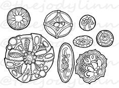 Museum Drawer: Waistcoat Buttons 2. Instant Download Digital Stamp Bundle. Line Art Illustration for Cards and Crafts Digital Stamps, Line Art, Drawers, Illustration Art, Museum, Buttons, Cards, Etsy, Digi Stamps