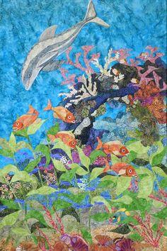 Fiber Art Quilts-Seascape by Eileen Williams