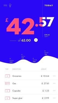 finance design home budget app layout - finance Web Design, App Ui Design, Interface Design, Layout Design, User Interface, Graphic Design, Ui Design Mobile, Budget App, Mobile App Ui