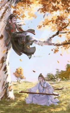 """Do you know the drama """"The Untamed"""" is adapted from avery famous Chinese web novel - Mo Dao Zu Shi! Now welcome to free read some other great BL novels on Anime Art Girl, Anime Guys, Chinese Art, Asian Art, Manhwa, Fantasy Art, Chibi, Art Drawings, Animation"""