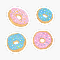 Cute Laptop Stickers, Canvas Prints, Art Prints, Donuts, Pastel, Kids Rugs, Printed, Drawings, Awesome