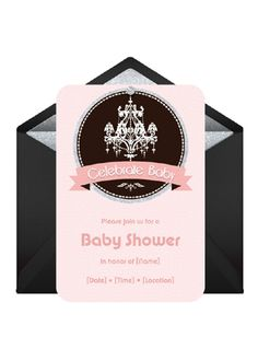 "Bring the shimmer to your ""Bling on Baby"" themed baby shower with our customized invites to get guests feeling the glitz.          Send This Invitation: http://www.punchbowl.com/p/bling-on-baby"