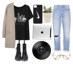 """""""girl"""" by darling-cara ❤ liked on Polyvore featuring N.Peal Cashmere, French Connection and NIKE"""