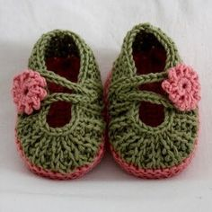 Knit shoes by bees and apple trees.