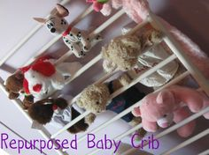 From old baby crib to stuffed animal ladder!
