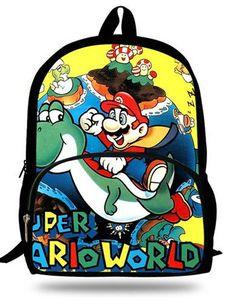 b3a9d0da70 16-inch Mochila Infantil Teenage Boys Backpack Child Super Mario SchoolBag  For Kids Aged 7-13 Girls Backpacks Super Mario Print
