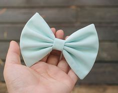 4.5 or 4.2 light mint hair bow clip mint green by TwinkleMingle, $3.49