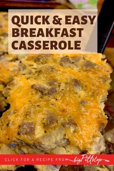 This easy, make-ahead Egg Beaters Breakfast Casserole is a perfect school morning breakfast or holiday breakfast buffet staple when your family is gathered. Or, make it on the weekend and cut into portions and have breakfast made for the whole week. #wwfriendly #lowpointbreakfast #eggbeaters