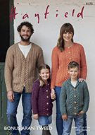 Hayfield 8170 Knitted Cardigans in Hayfield Bonus Aran Tweed ( weight yarn. For children and adults from to Knit Cardigan, Tweed, Knit Crochet, Sweaters, Cardigans, Men Sweater, Knitting, Detail, Children