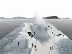 Para a Exposição de Yeosu 2012 (uma competição internacional coreana), o estúdio de arquiteturaDaniel Valle Architects imaginou uma plataforma de 30.000 metros quadrados na água, para construir o que eles chamam de Pavilhões da Água. Esses pavilhões permitem a passagem...
