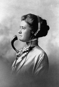 Telephone Operator, ca 1911 - What I used to do, but I didn't look like that lol