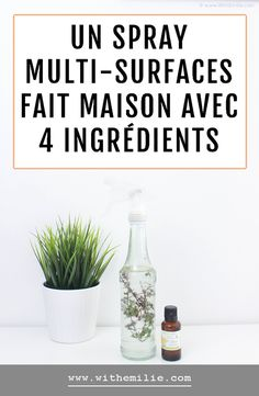 Lifestyle 430093833161804631 - Recette : Spray Nettoyant multi-surfaces fait maison avec 4 ingrédients – With Emilie Cleaning Spray, Diy Cleaning Products, Beauty Games, Green Tips, Base, Natural Beauty Tips, Celebrity Makeup, Sustainable Living, Health Tips