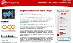 Latest! Team CVQO - Brighton Marathon  Our Virgin Giving page is now up and running - please consider making a donation! Help us to help more young people gain qualifications.  Follow this link: