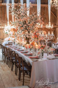 Luxury Barn Wedding Flowers Decor