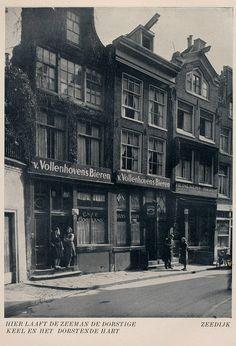 1958. Cafe Gooiland at number 43 on the Zeedijk in Amsterdam. Photo Jaap Doeser #amsterdam #1958 #zeedijk