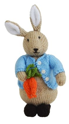 Peter Rabbit knitting pattern at  Etsy NOWMINE and www.tbeecosy.com