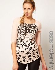ASOS Maternity Exclusive Raglan Tee With Stars