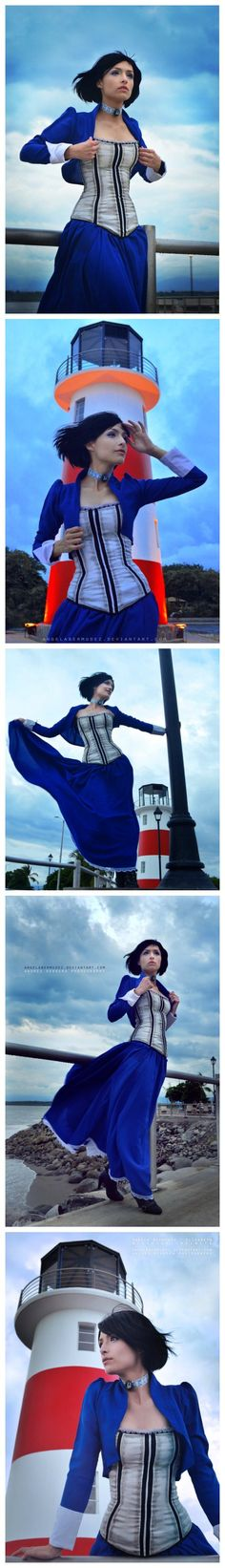 BioShock Infinite Elizabeth,she doesn't really look like her though. When my hair was shorter I was told I looked like her.