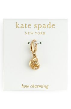 Women's kate spade new york 'how charming' novelty charm - Gold- Sailor's Knot Charm