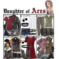 """Daughter of Ares ~ Wardrobe"" by liesle on Polyvore"