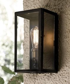 Beacon Lighting - Southampton 1 light small exterior wall sconce in antique black Wall Lights, Decorative Wall Sconces, Glass Wall Sconce, External Lighting, Light Fixtures, Lights, Wall Sconce Lighting, Home Lighting Design, Outdoor Light Fixtures