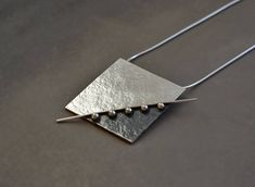 Excited to share the latest addition to my #etsy shop: Sterling silver square pendant. Sterling silver necklace. Artisan necklace. MADE TO ORDER. Silver Pendant Necklace, Sterling Silver Necklaces, Pendant Jewelry, Silver Jewellery, Damas Jewellery, Jewellery Stand, Silver Earrings, Silver Brooch, Silver Ring