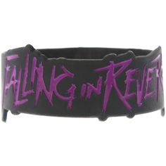 Falling In Reverse Logo Die-Cut Rubber Bracelet | Hot Topic ($7) ❤ liked on Polyvore featuring jewelry, bracelets, rubber bracelets, accessories, band merch, black rubber bracelet, kohl jewelry, rubber bangles, black bracelet and bracelet bangle