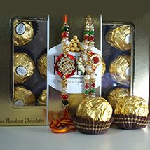 Rakhi with Ferrero Rocher