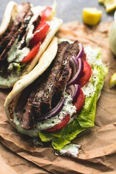Vegetarian Recipes, Cooking Recipes, Healthy Recipes, Tzatziki Sauce, Gyro Cucumber Sauce Recipe, Lamb Gyro Recipe, Greek Gyros, Greek Dishes, Mediterranean Diet Recipes