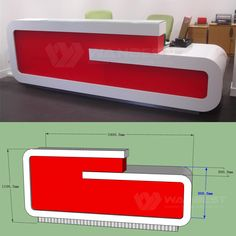 Z shape Popular Personal Reception Counter Best Sale Office Counter Design, Cash Counter Design, Reception Counter Design, Modern Reception Desk, Office Table Design, Office Interior Design, Office Reception, Room Partition Designs, Living Room Tv Unit Designs