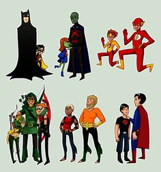 Young Justice so youthful by ~Rinri on deviantART