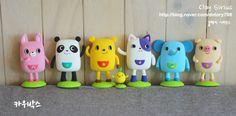 Caja Amigos Cow cuadrado caracteres pares Clay (Producción) :: Naver el blog