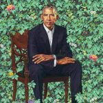 """Barack and Michelle Obama's official portraits for the Smithsonian's National Portrait Gallery; Obama's portrait by Kehinde Wiley; Obama's portrait by Amy Sherald. Obama Presidential Portrait, Official Presidential Portraits, Obama Portrait, Michelle Obama, Chef D Oeuvre, Oeuvre D'art, Oeuvres, Art History, Ancient Art"