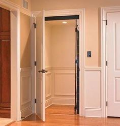 home elevator. Perfect - hidden behind a door, looking like a little room.