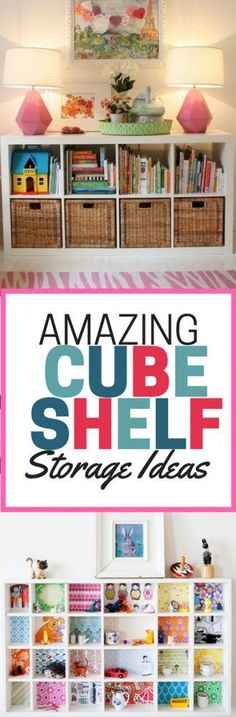 Amazing ways to use cube shelf storage. Tips and ideas for using cube shelves to organize all the things.