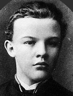Young Lenin. The impressing forehead was clearly not due to the lack of hair alone..
