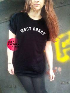 West Coast T Shirt Women Men Unisex Tee Cool by ZEEFACTORYTEES, £9.99